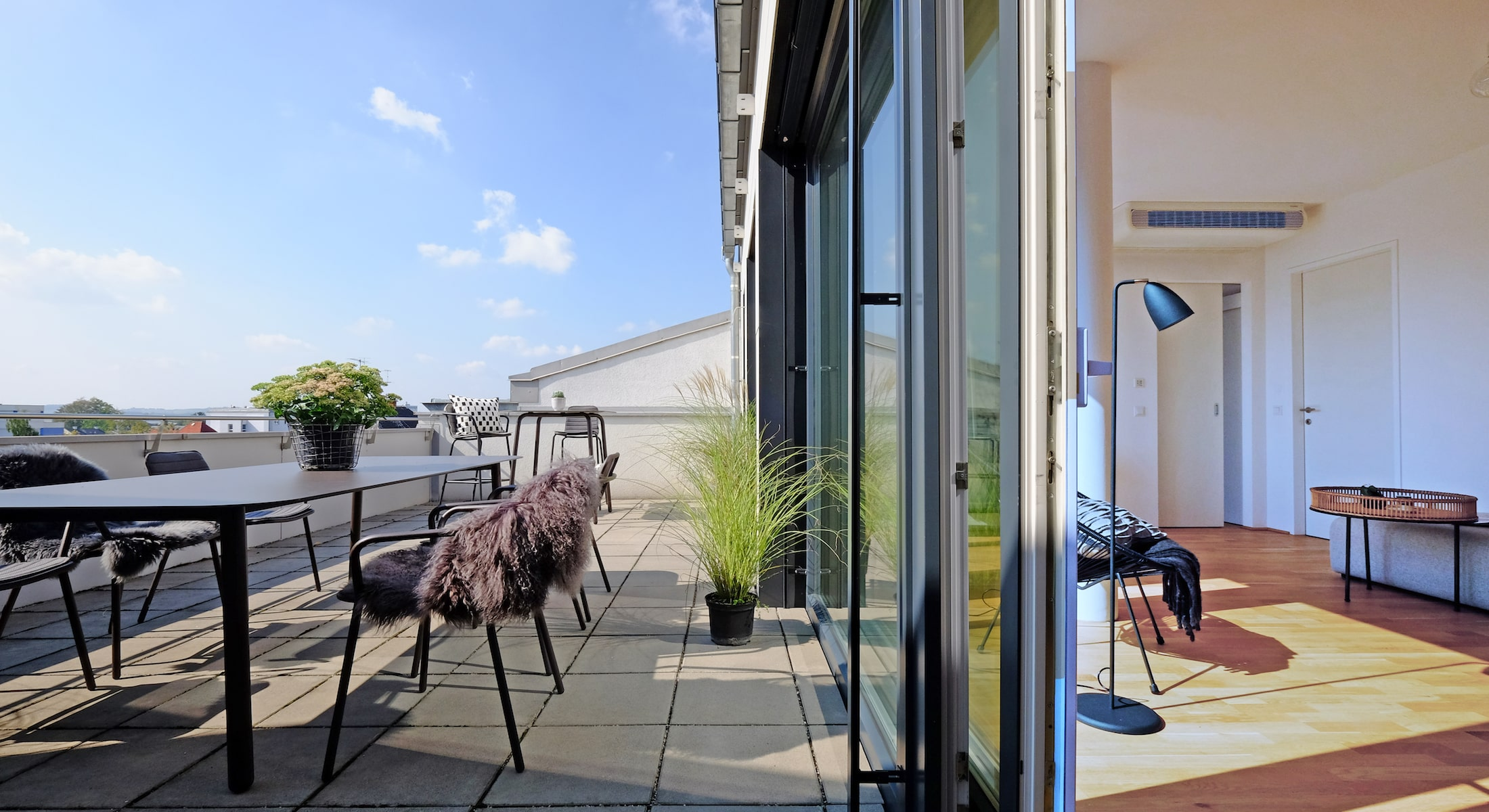 Vorher/Nachher: Home Staging Penthouse Wels