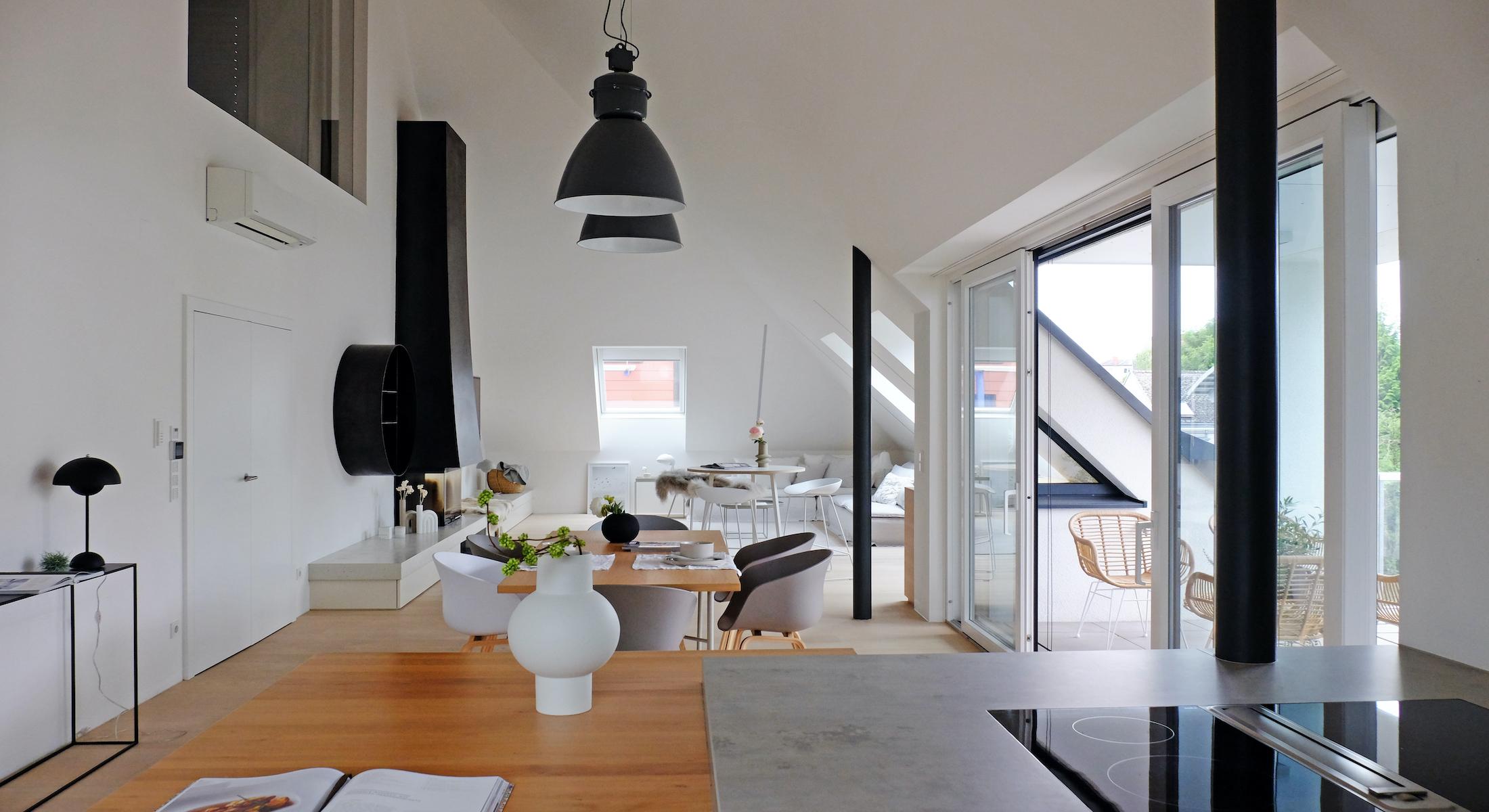 Bild ohne Text: Home Staging eines großen Apartments in Linz