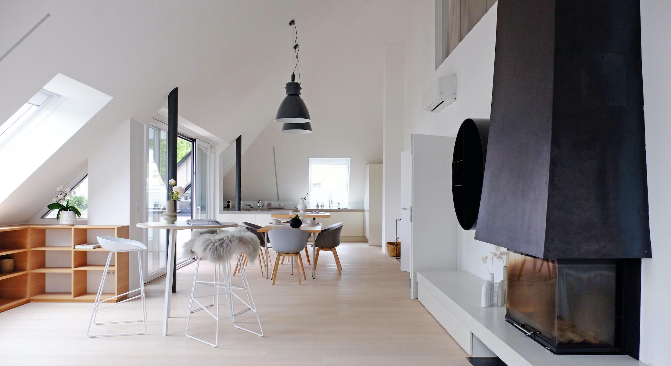 Bild ohne Text: Home Staging eines 180 m2 großen Apartments im Loftstyle